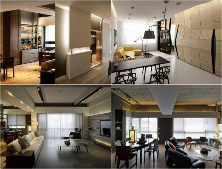 collage diseño interiores luces indirectas