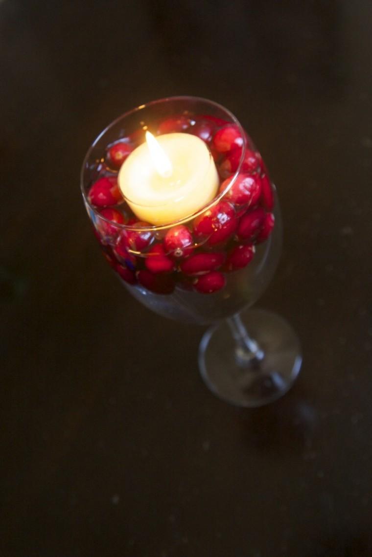 copa bayas rojas vela navidad