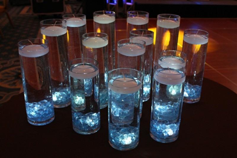 copas altas velas blancas