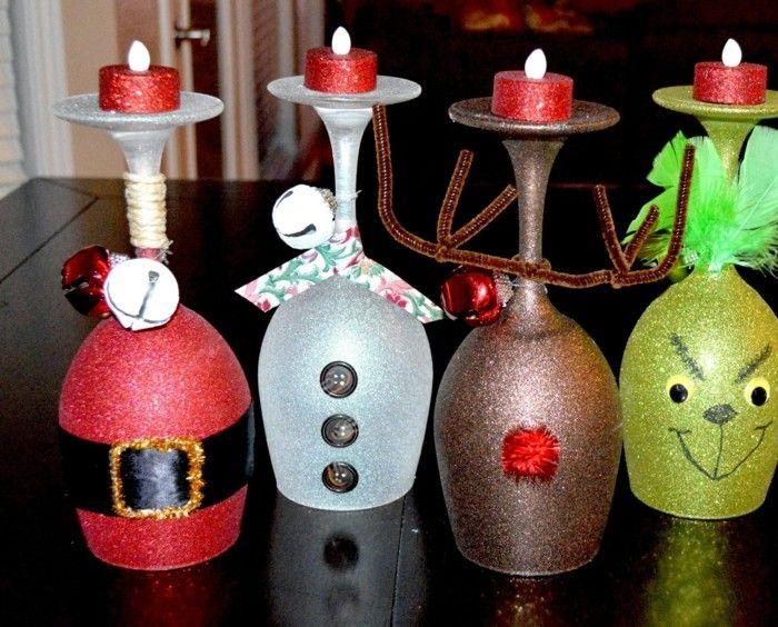 copas convertidas candelabros regalos original ideas