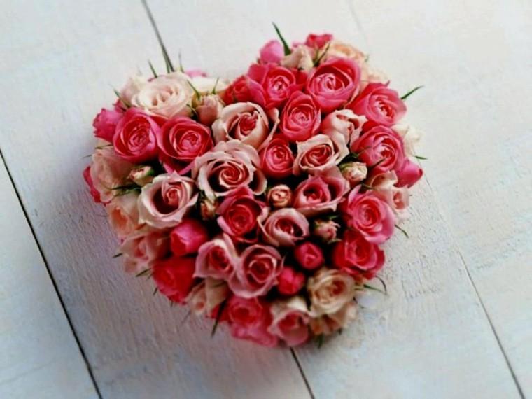 corazon rosas color deco rojo