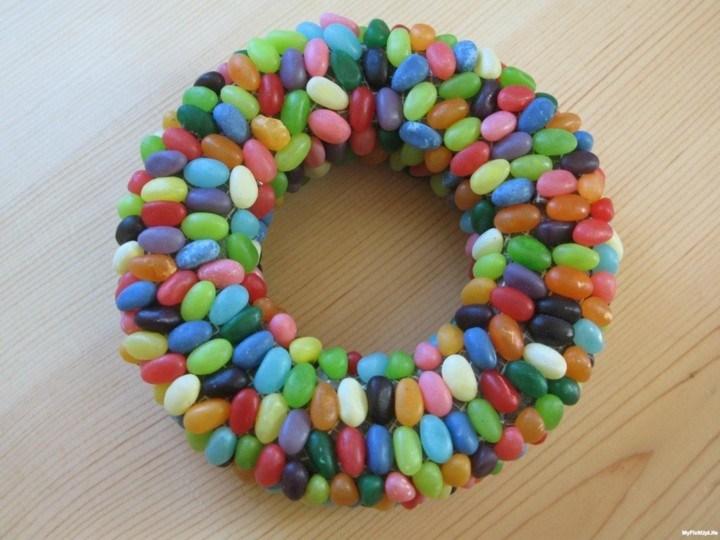 corona adviento caramelos colores