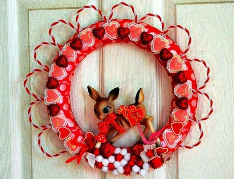 corona roja ciervo san Valentin