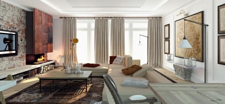 cortinas decoracion verde metales