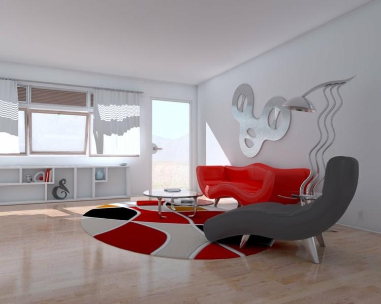 creativo diferente sala estar rojo