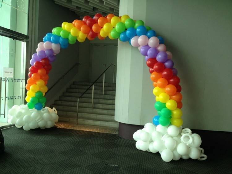 cristales decorado cuerdas metales arcoiris
