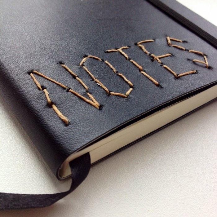 cuadernos regalo hilo personalizado ideas
