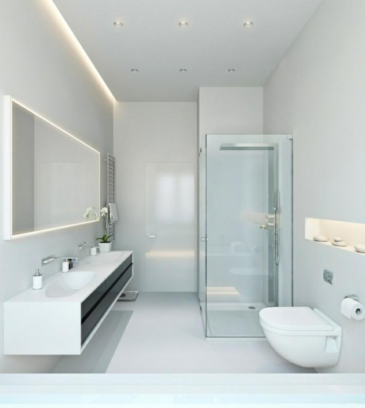 cuarto baño moderno color blanco