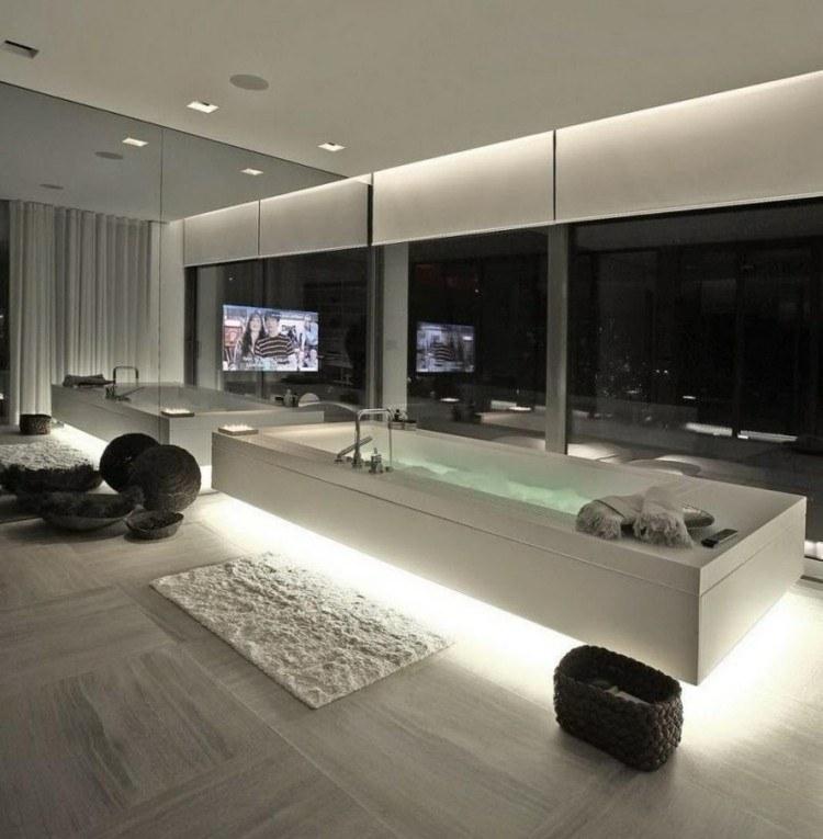 cuarto baño estilo futurista