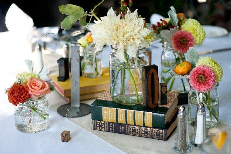 decorar mesa cena jardin