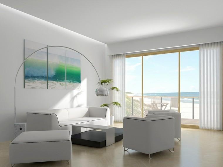 decoración salon color blanco