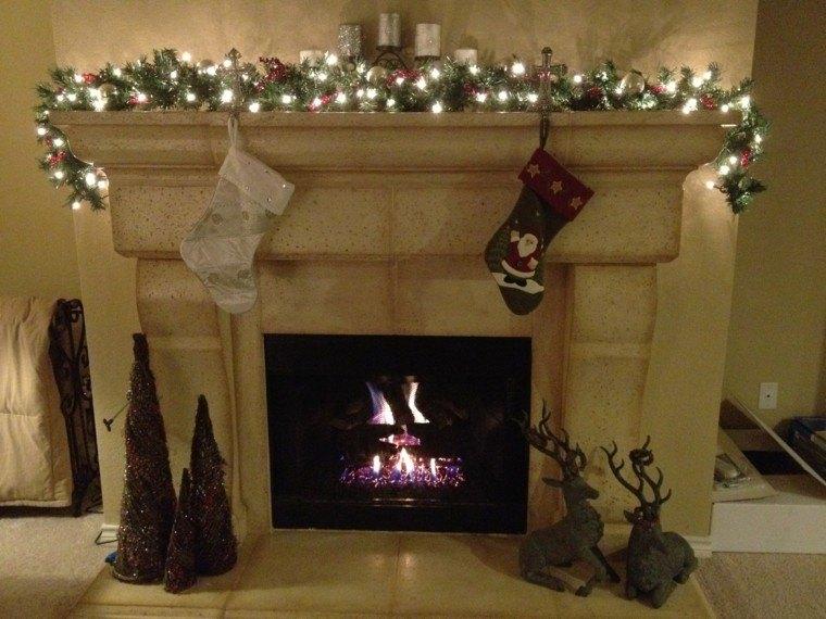 decorar chimneneas modernas navidad