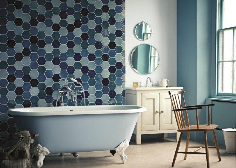 decoración baño azulejos color azul