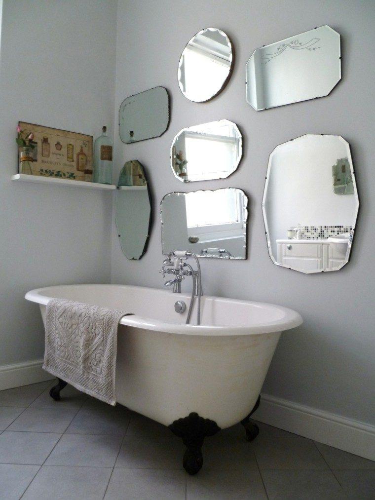 deco cuarto baño espejos retro