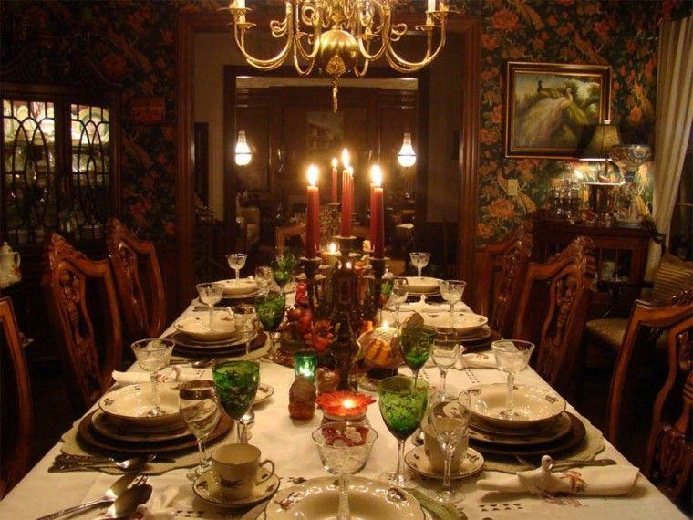 decorar mesa candelabro velas
