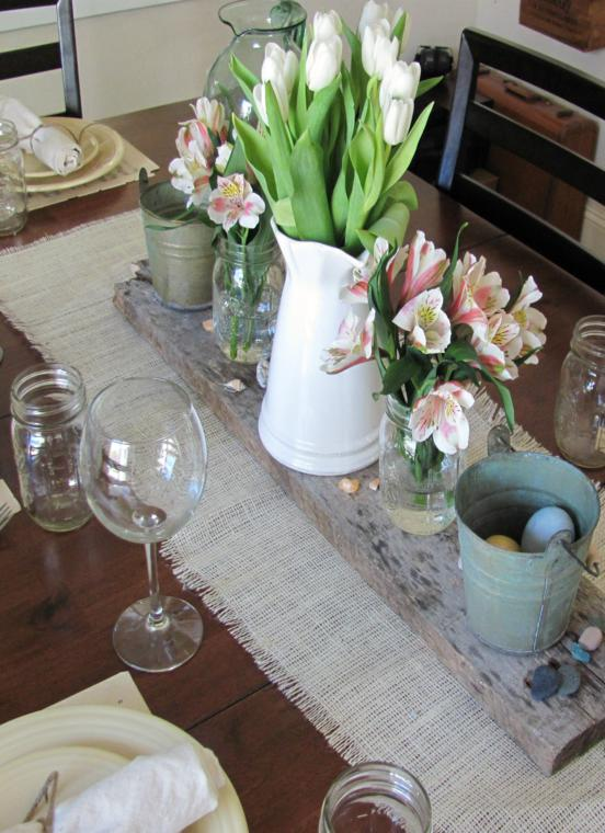 Arpillera para decorar la mesa 50 manteles r sticos - Manteles de mesa de comedor ...