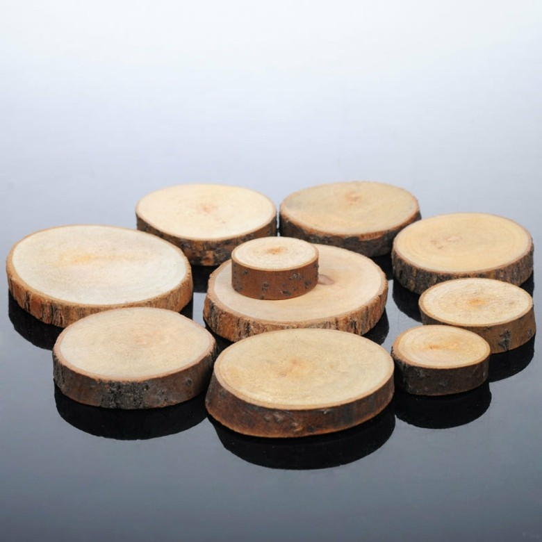 deco mesa rodajas ramas madera