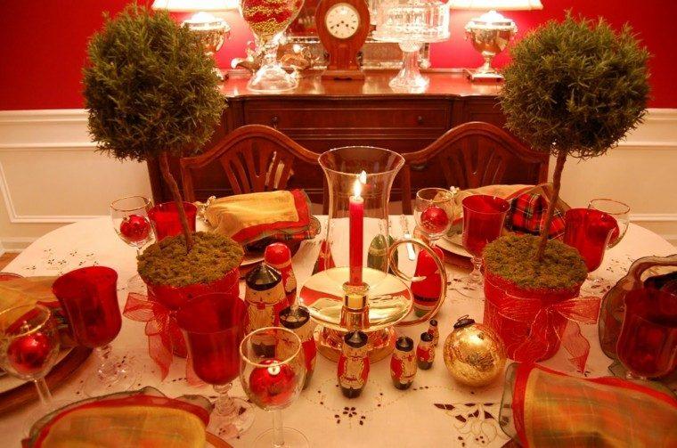 Centros de navidad con velas 50 ideas geniales - Adornos para navidad con pinas ...