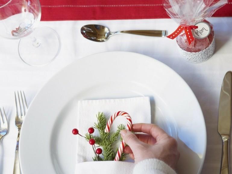 deco mesa ramita pino plato