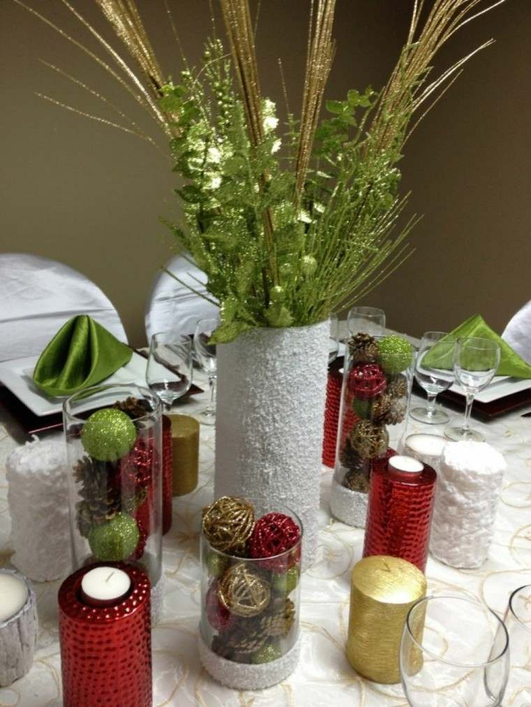 deco mesa navidad estilo moderno