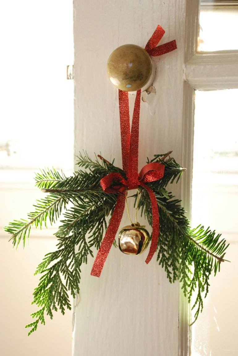 deco navidades adorno casero puerda
