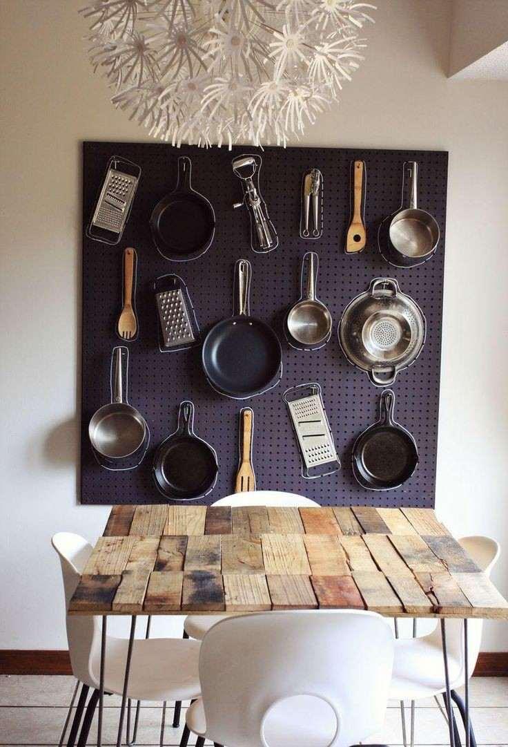 decoración pared comedor utensilios