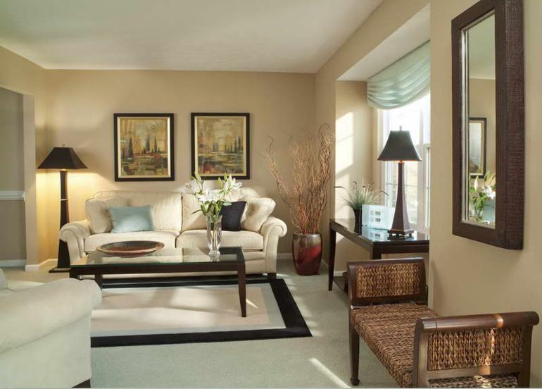 decorar sala estar beige
