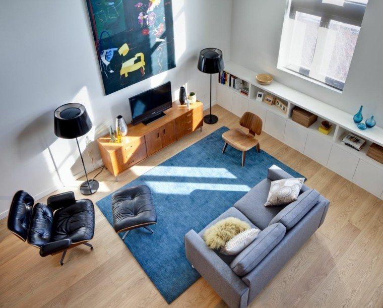 decoracion de salones sala estar muebles azules