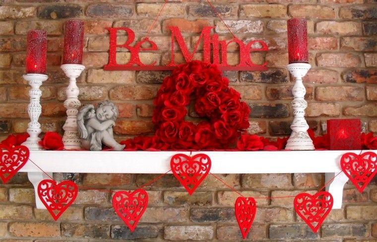 decoración san valentin rojo
