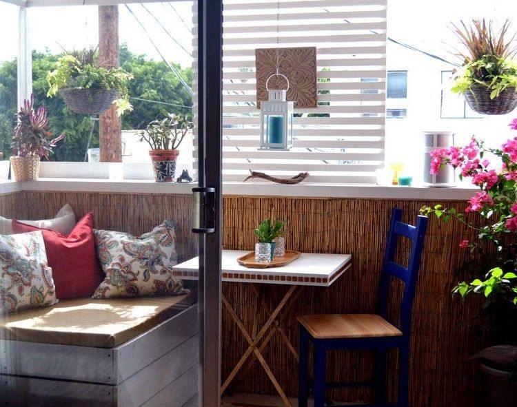 decorar terrazas biombos persianas