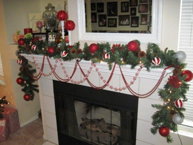 decoración guirnalda bolas rojas