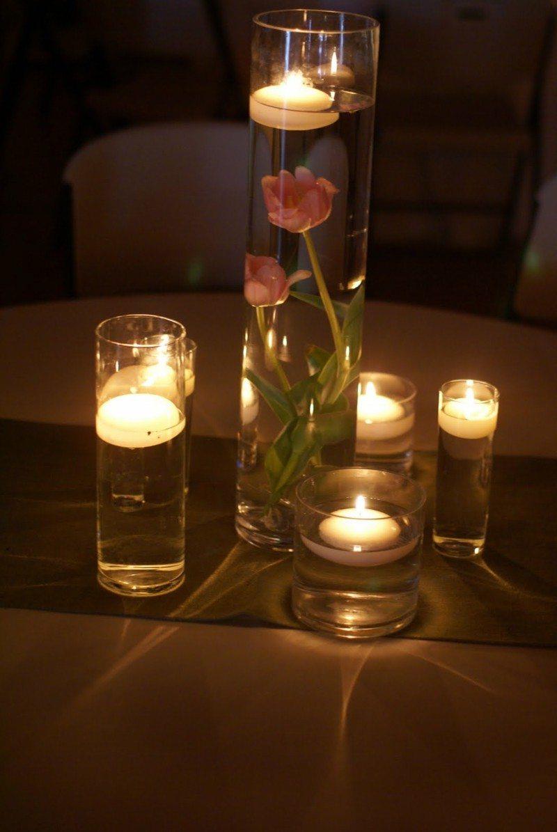 Velas flotantes una decoraci n sencilla pero elegante - Decorar con velas ...