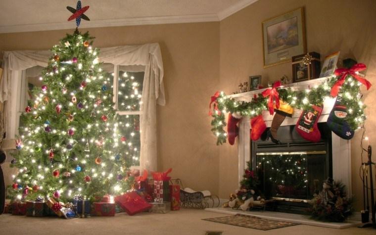 decoración salon colores navidad