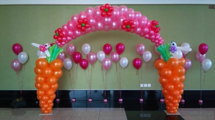 decoración arco cumpleaños globo