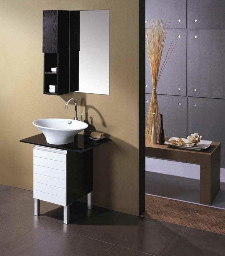 decoración baños pequeños muebles