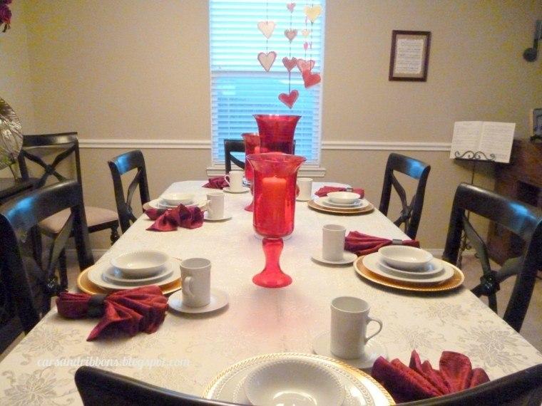decorar mesa san valentin