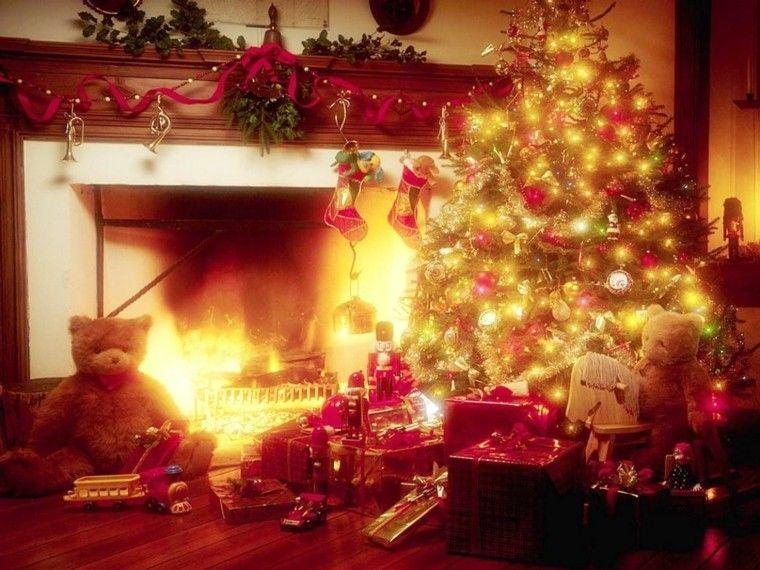 decoración navidad osito luces