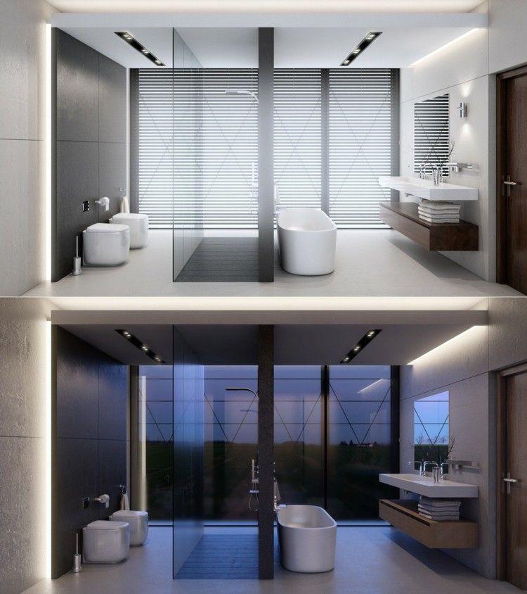 decoracion baños luces led bañeras