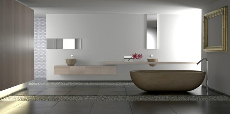 decoracion baño banera preciosa madera lujoso