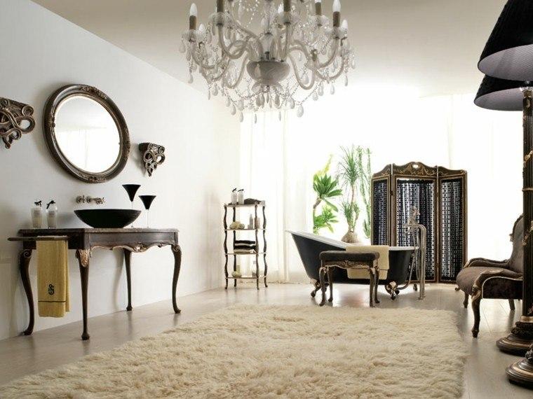 decoracion baños modernos alfombra pelos ideas