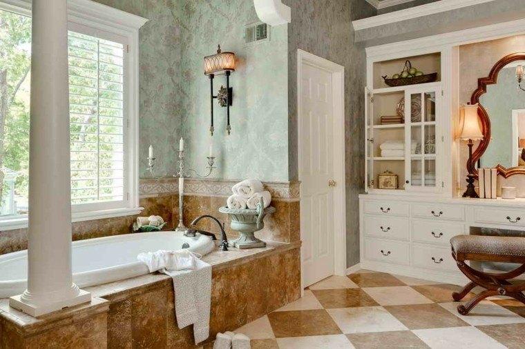decoracion baños modernos mueble estanterias ideas