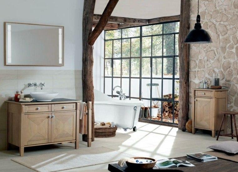 decoracion baños modernos ventana grande ideas