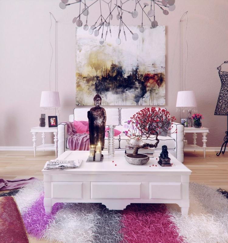 decoracion casas diseño lamparas alfombras rosado