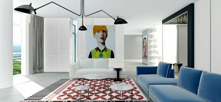 decoracion casas diseño lamparas colorido cortinas