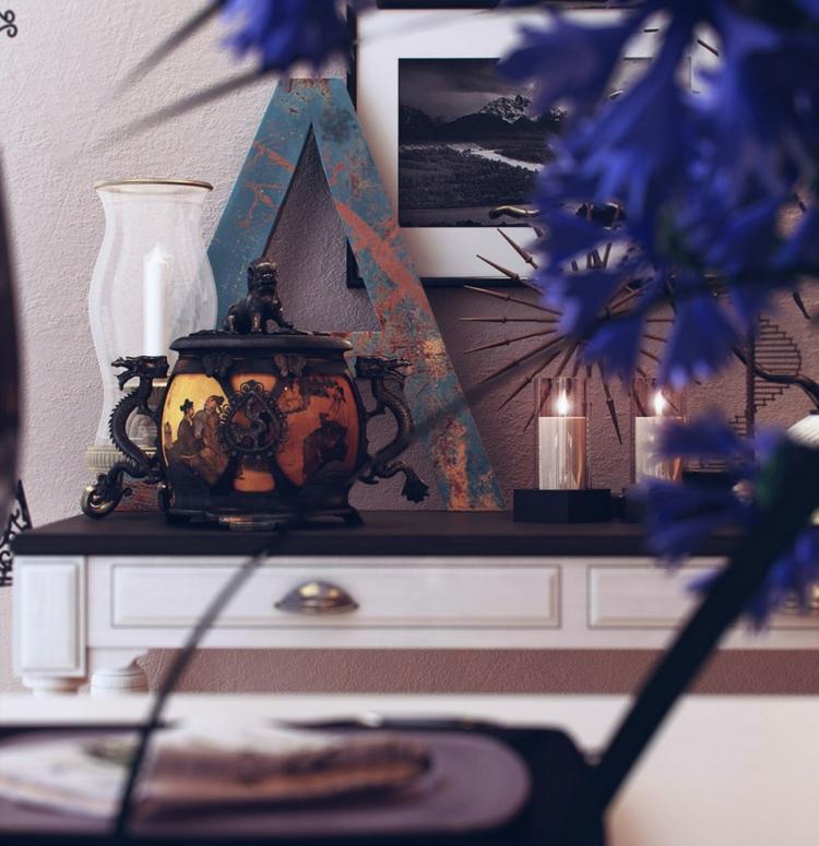 decoracion casas diseño lamparas letras cuadros