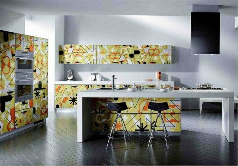decoracion-cocina-moderna-muebles-estampas