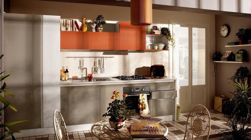 decoracion cocinas armarios naranja ideas