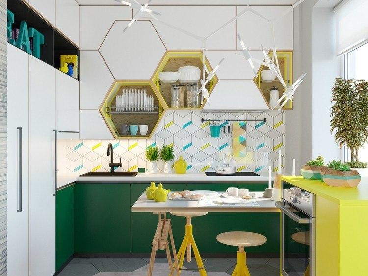 decoracion cocinas diseños naturales amarillo