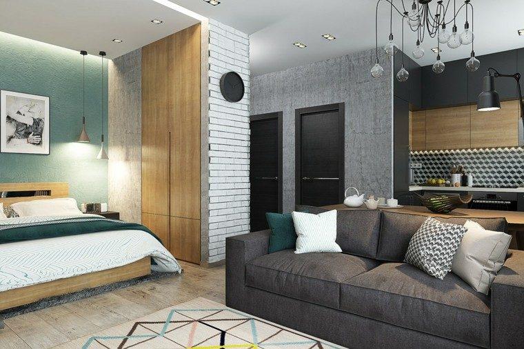 decoracion de casas ideas lamparas cojines madera