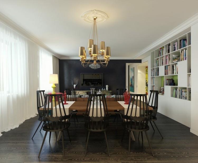 decoracion de casas madera cortinas sillas